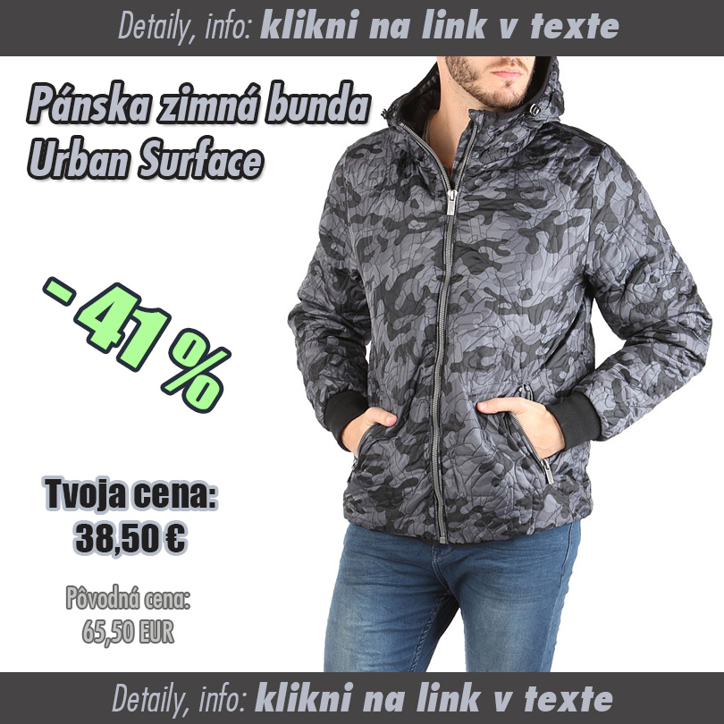 Pánska zateplená zimná bunda - SUPERWEB  Super ponuky 70df60f4ede