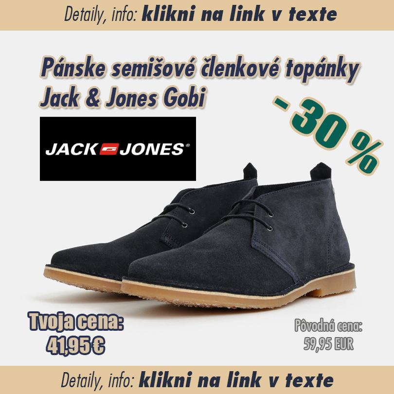 3dbbe0f017b41 Pánske semišové topánky Jack & Jones - SUPERWEB: Super ponuky, zľavy ...