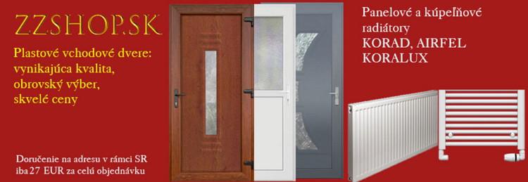 Lacné plastové vchodové dvere a radiátory. e-shop